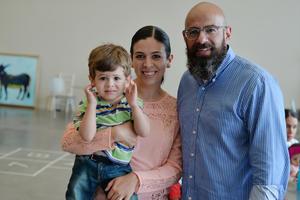 02092016 EN EL AROCENA.  Flavia, Samir y Alan.