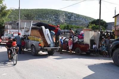 La colonia El Centauro en Lerdo se inundó, un sector en donde habitan unas 1,000 personas.