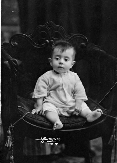 04092016 Jorge Carrillo Grageda, a sus 8 meses de edad, en 1920.