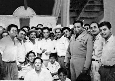 04092016 Arturo Miranda Bernal en una visita que hizo Cantinflas a Torreón, Coahuila.