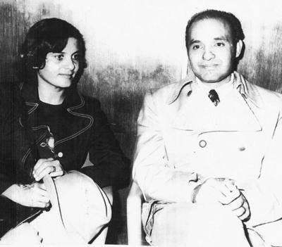 04092016 Sra. María del Carmen Ibarra de Viramontes e Ing. Salvador Viramontes Valdez en 1966.
