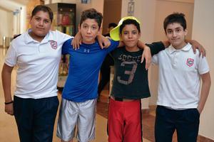 08092016 COMPAÑEROS.  Reynaldo, Isaac, Alan y  Rodrigo.