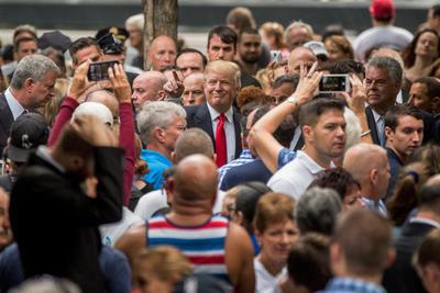 El candidato a la presidencia Dondal Trump, estuvo presenten en la ceremonia.
