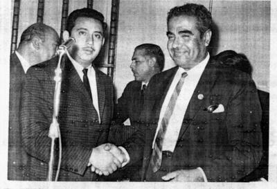 11092016 Líderes sindicales del STIRT en 1965: Isidoro Martínez Ibarra y Rafael Camacho Guzman (f), quien fuera Gobernador de Querétaro.