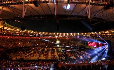 RÍO DE JANEIRO (BRASIL).- Fotografía de la ceremonia de clausura de los Juegos Paralímpicos Rio 2016, en el estadio de Maracaná en Río de Janeiro (Brasil). EFE