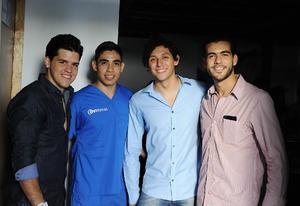 Daniel, Miguel, Miguel y Felipe