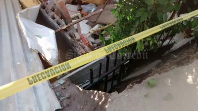 Fueron las viviendas marcadas con los números 137 y 139 las que se encontraban completamente hundidas en un socavón.