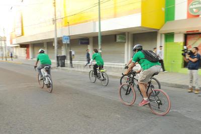 La actividad consistió en trasladarse de Gómez Palacio a Torreón a bordo de distintos medios de transporte.