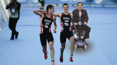 Incluso se presentó en la competencia de triatlón.