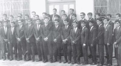 25092016 Graduación de alumnos egresados de la desaparecida Escuela Secundaria Pedro de Gante de Gómez Palacio, Dgo., en 1967.