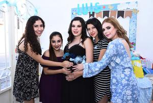 25092016 FIESTA DE CANASTILLA.  Luisa Fernanda Márquez Moreno con Scarlet, Gaby, Ximena y Laura.
