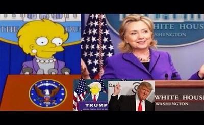 Usuarios de las redes sociales compararon a Clinton con Lisa Simpson.