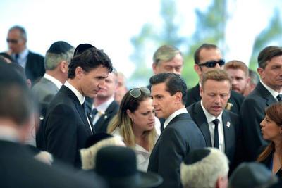 Presidente de México, Enrique Peña Nieto, quien tuvo el placer de convivir con Shimon Peres en octubre del 2015 cuando el ex presidente israelí visitaba Guadalajara para la Cumbre de Negocios.