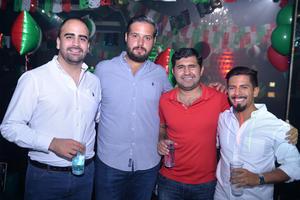 Esteban, Rodrigo, Hugo y Rodrigo