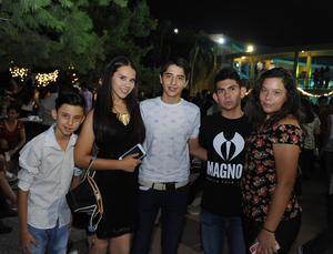Javier, Natasha, José Luis, Orlando y Zitlali