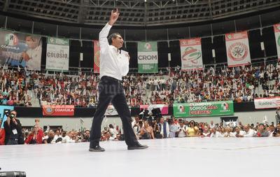 Refrendó su respaldo a Moreira Valdez.