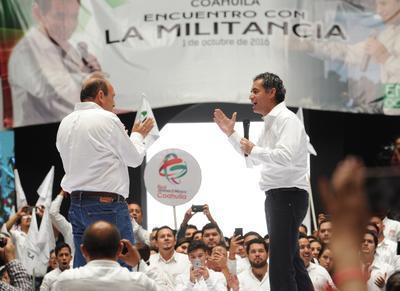 Ochoa Reza le expresó su total apoyo al gobernador.