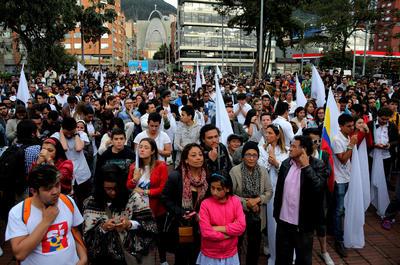 Los simpatizantes del 'si' también se hicieron presentes en las calles del país.