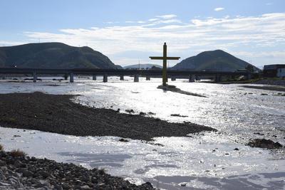 El agua llegó por segunda ocasión en este año al Río Nazas.