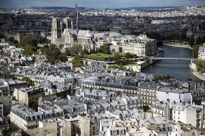 PARÍS (FRANCIA).- Vista de la catedral de Notre Dame desde lo alto de la Universidad de Jussieu en Paris, Francia. EFE