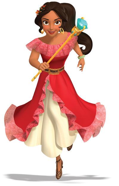 """BURBANK (EE.UU.).- Imagen cedida de la animación de la nueva princesa de Disney de origen latino, """"Elena de Avalor"""". A Blancanieves, Cenicienta y demás princesas Disney se les ha unido una nueva compañera, que como novedad es latina. Elena de Avalor lidera la homónima serie televisiva y el gigante de la animación abrió las puertas de su estudio para mostrar cómo creó a su primera protagonista hispana. EFE"""