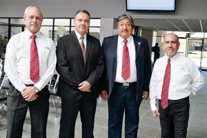 06102016 Carlos Rodríguez, Jorge Rangel, Alfonso Miramontes y Sergio Guerrero.
