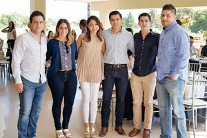 08102016 RECIENTE EVENTO.  César, Karla, Laura, Rodolfo, Abraham y Gerardo.