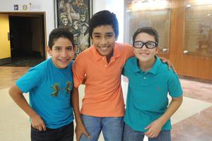 Luis Carlos, José Antonio y Carlos