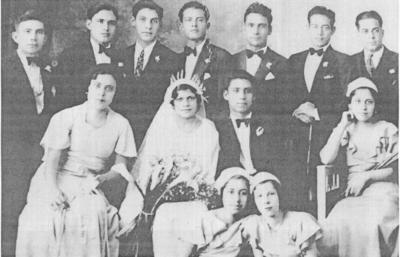 16102016 Boda religiosa de Jesús Valdez Gómez y Hortensia Cruz en 1933 en la Cd. de Lerdo, Durango.