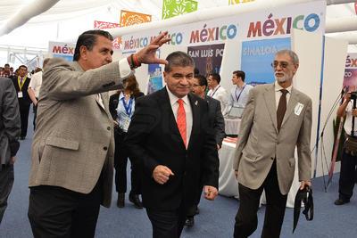 El alcalde de Torreón, ciudad anfitriona, hizo un nuevo recorrido por la Expo.