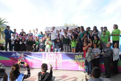 Laguna Yo Te Quiero realizó una campaña de mejoramiento de escuelas.