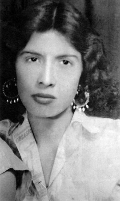 23102016 Manuela Durán a la edad de 18 años. Actualmente, tiene 83 años.