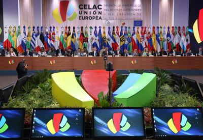 SANTO DOMINGO (REPÚBLICA DOMINICANA).- Vista general de la inauguración de la XLVIII Reunión de Altos Funcionarios de la Unión Europea (UE) y la Comunidad de Estados Latinoamericanos y Caribeños (Celac), en Santo Domingo (República Dominicana). EFE