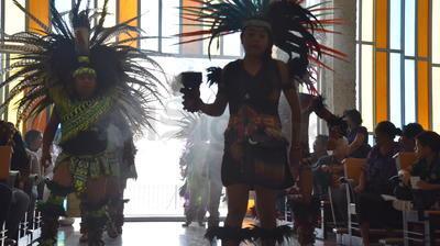 Grupos danzantes honraron a San Judas Tadeo.