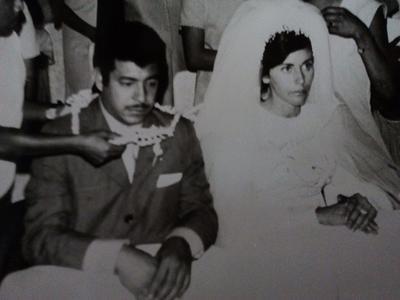 30102016 Jaime Antonio Rodríguez Bernal y Hermila García Muñiz el día de su boda el 30 de octubre de 1971.