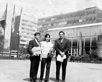 30102016 Antonio García Lesprón, Olga Garza de García y Jesús Reyes, en la Ciudad de México en 1969.