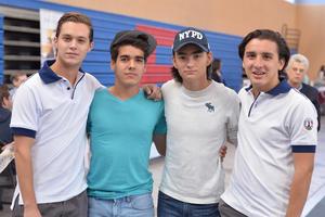 06112016 EN LA FERIA DE UNIVERSIDADES.  Ricardo, Luis, Alberto y Pedro.