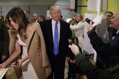 Trump acudió acompañado de su esposa Melania.