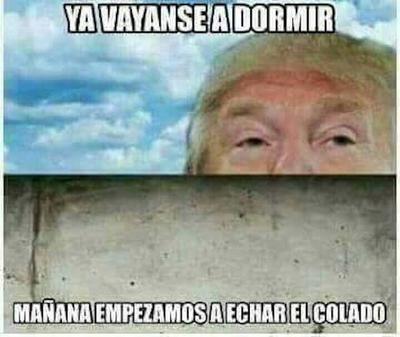 Donald así le dio las buenas noches a México...
