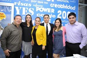 09112016 Anastasio Antonio García, Kenia García, Itzel Alonso, Aldo Ganem y Jerry Gutiérrez.
