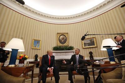 """Obama, por su parte, dijo que está """"alentado"""" por la conversación con Trump."""