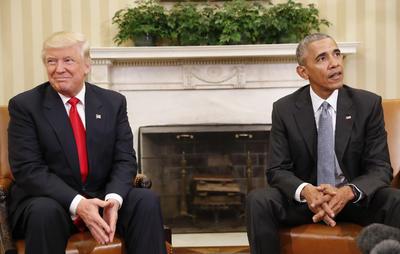 El presidente electo, Donald Trump, sostuvo su primer encuentro con el actual mandatario, Barack Obama.