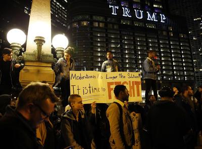 Chicago fue otro sitio donde hubo manifestaciones.