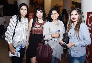 10112016 EN UNA CONFERENCIA.  Saraí Aguilar, Rocío Ávila, Daniela Rodríguez y Marcela Leyva.
