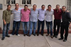 Eduardo, Arturo, Luis, Alfredo, Misael, Carlos, Ricardo y Óscar