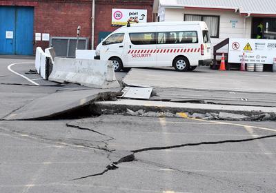 Diversos daños en la infraestructura dejó el terremoto.