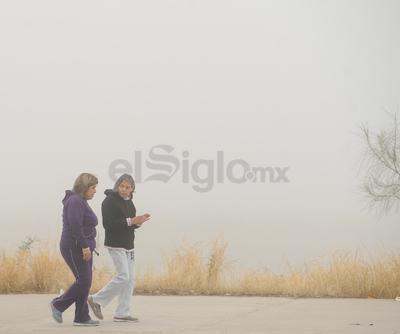 Laguneros salieron a las calles ante la poca visibilidad.