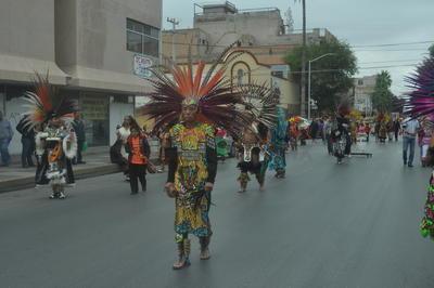 Peregrinaron por las calles del centro de la ciudad.