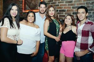 13112016 EN EL ANTRO.  Sariela, Maricarmen, Arturo, Marifer, Karen y Miguel.