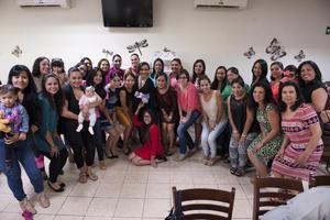 13112016 BABY SHOWER.  Pamela Altamirano de Hernández acompañada de sus amigas.